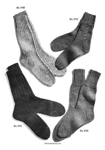 Two Needle Socks Patterns Jack Frost Knitting Book Vol57